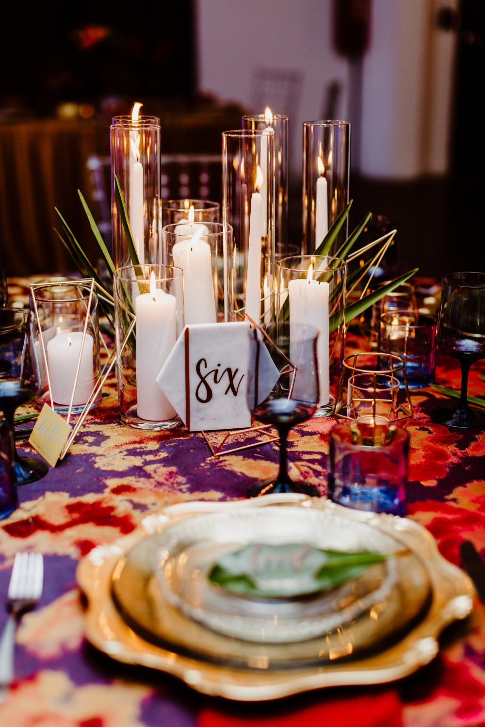 candle lite wedding centerpiece