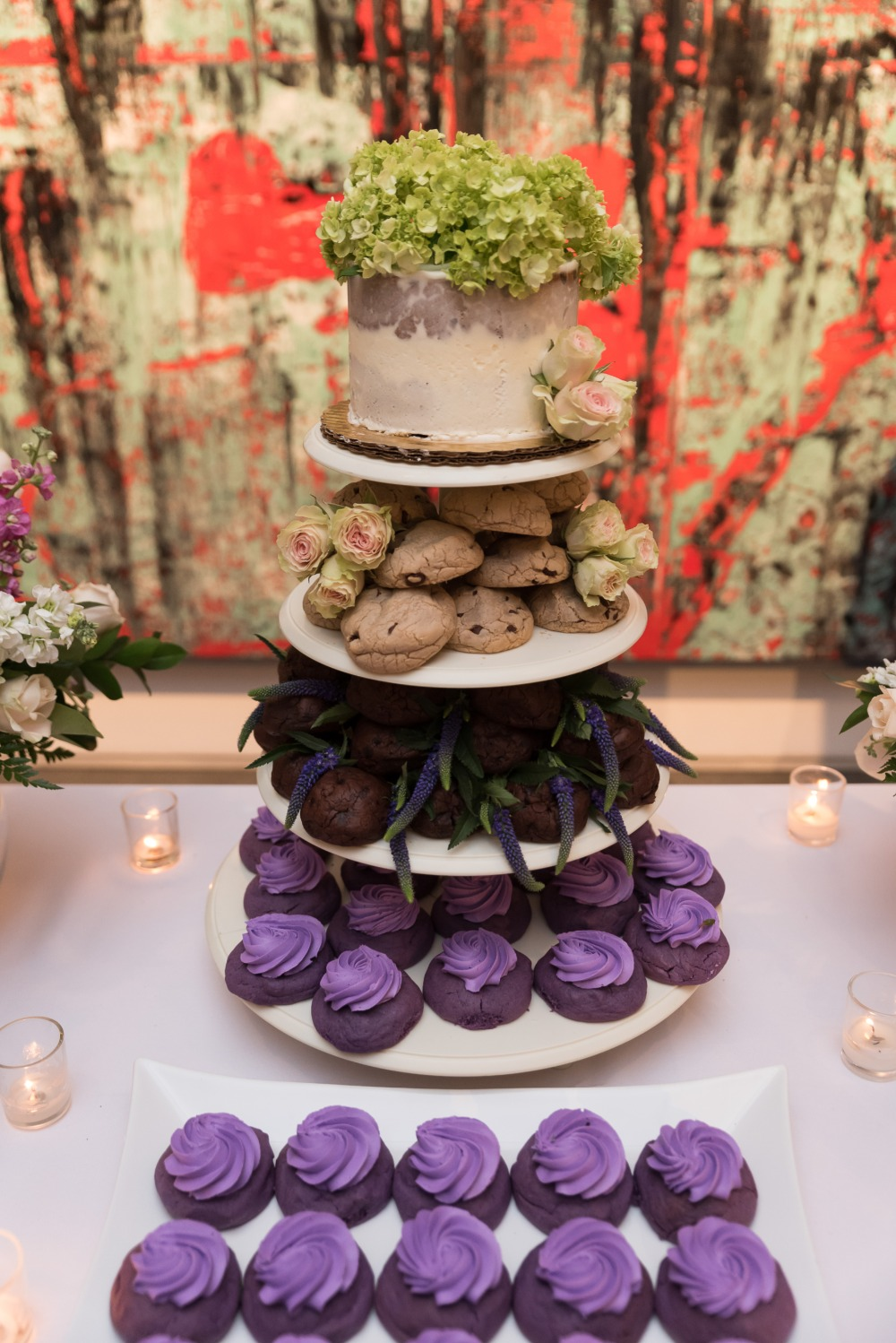 cookies cupcakes and mini wedding cake