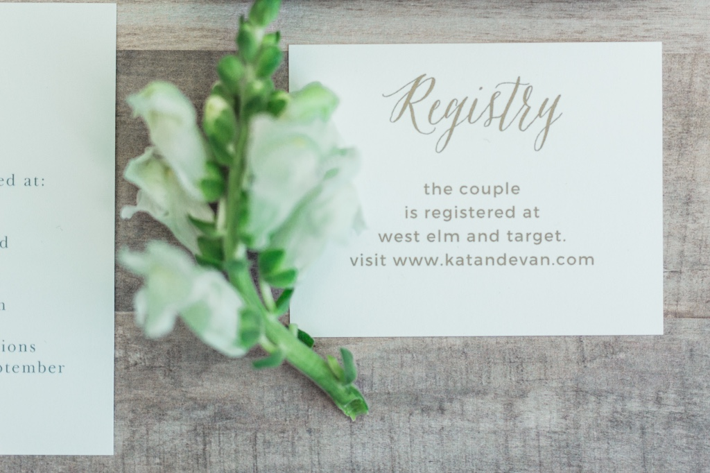Rustic Ombre Registry Cards - with a silver foil registry this pretty you're sure to get all the gifts on your lis!