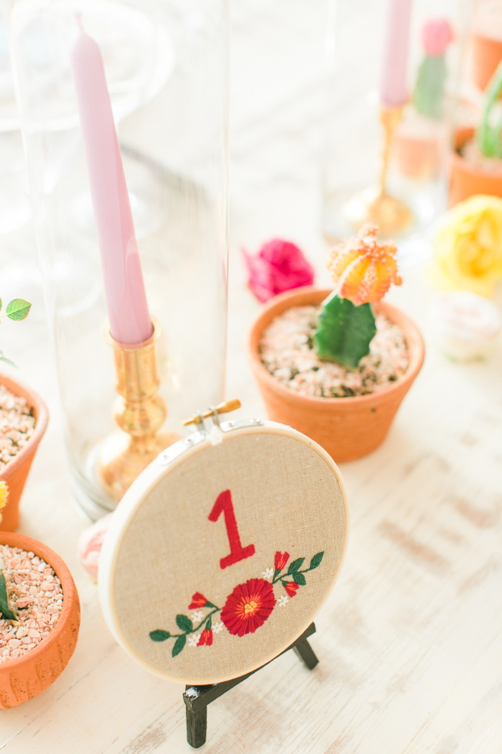 Colorful table number