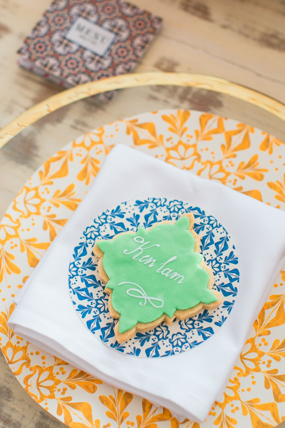 Cookie place card