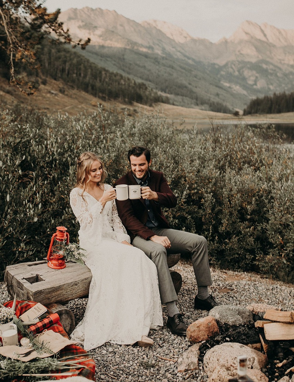 lets go camping Wes Anderson style wedding