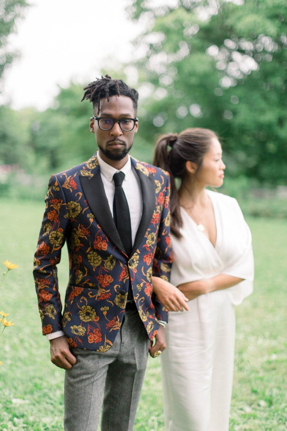 Bold jacket for the groom