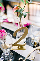 Hot Pink and Black Industrial Modern Wedding