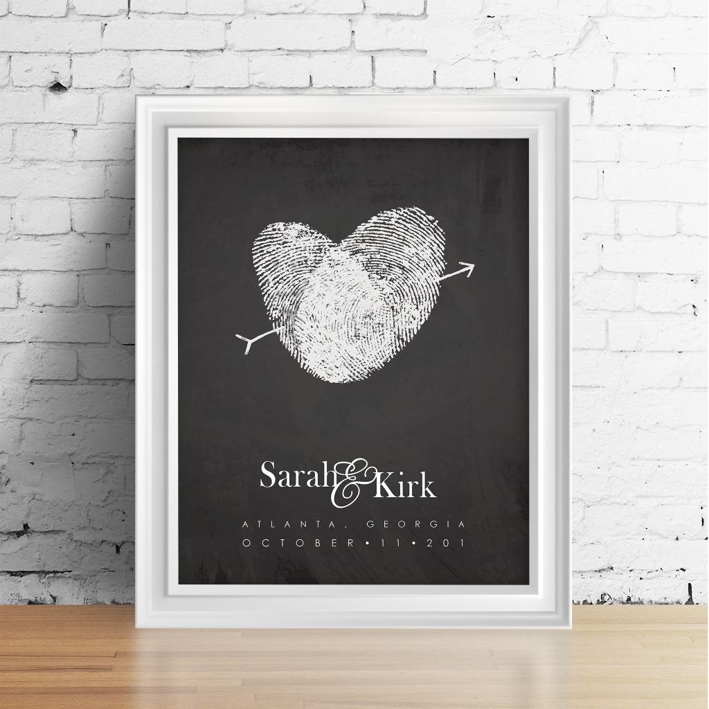 Keepsake artwork and guest book, made with your fingerprints! Work with Flutterbye Prints to design something truly special. Custom