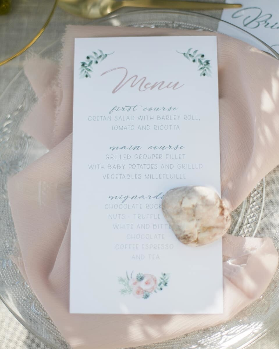 ▪Make your guests feel special and treat them with small details like this wonderful menu designed by talented