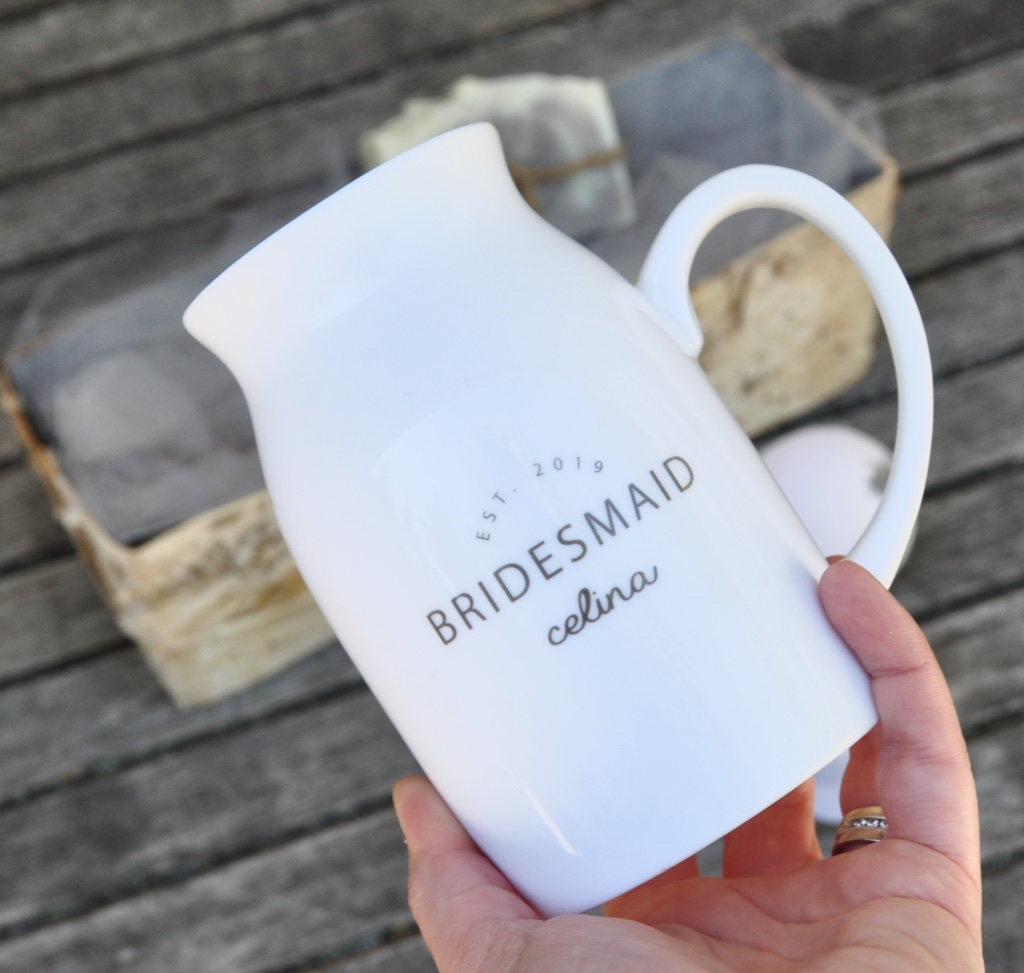 Best bridesmaid gift EVER...personalized bridesmaid gift box with spa lovelies...with free shipping for all orders over $100 in Canada