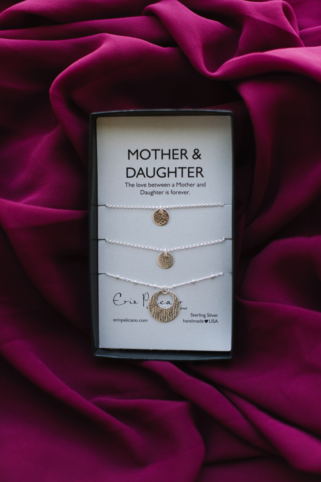Mother Daughter jewelry, our classic collection, makes the perfect celebration between Bride + Mother of the Bride + Sisters.