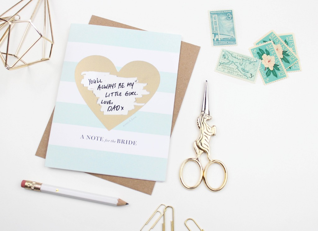 Make your bride to be a scratch-off card she will never forget! Write your message in the space provided and cover it with the sticker
