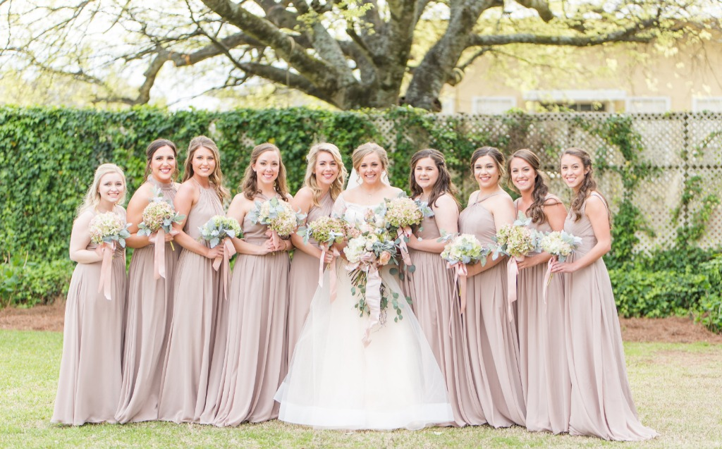 Neutral Bridesmaid Dresses at Azaize.✨😍 | Photo by Lex & Lee Photo + Film