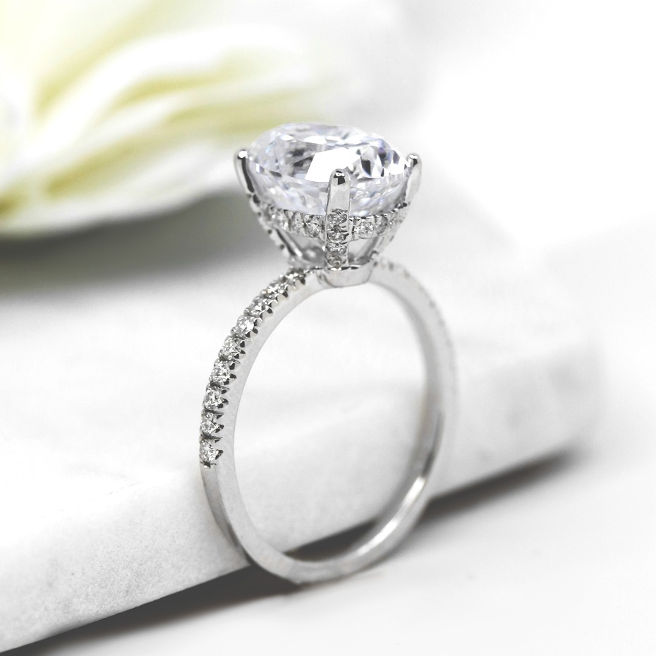MiaDonna Custom Hidden Halo Engagement Ring