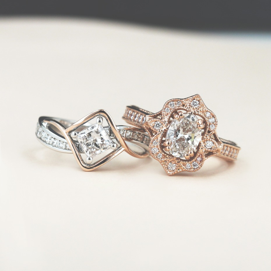 MiaDonna Custom Modern Engagement Rings