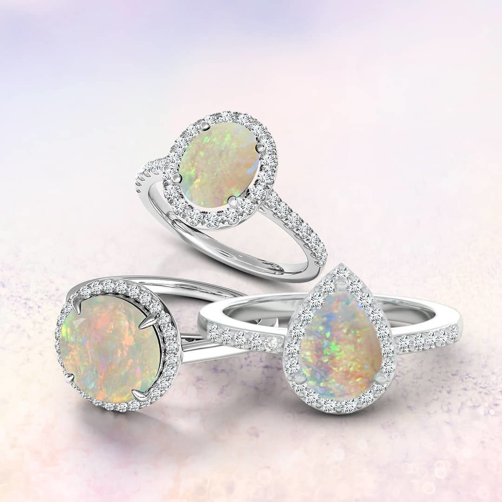What colors do you see in these opal beauties?