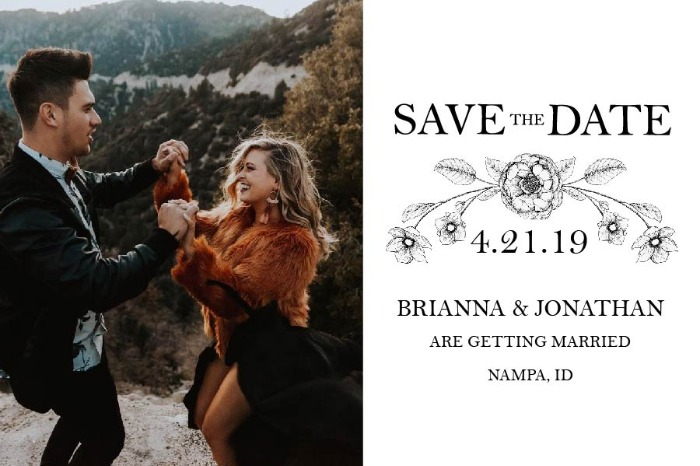Print: Botanical Save The Date