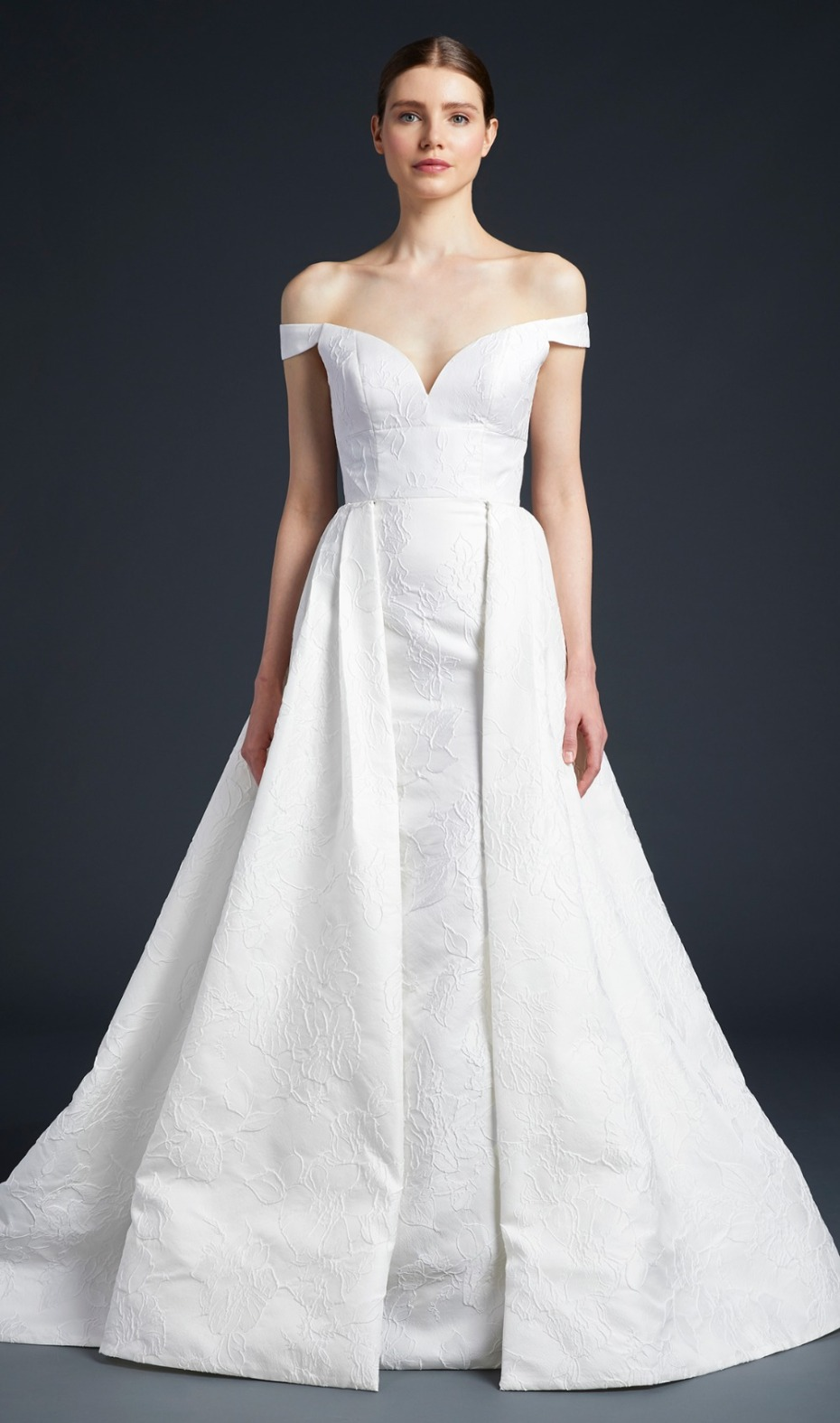Anne Barge New 2019 Gown Embroidered Front