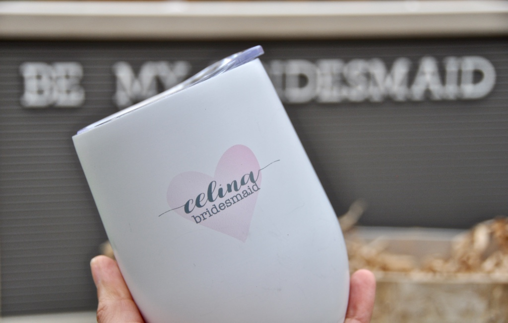 A personalized wine tumbler for your bridal party is the perfect gift that they will use forever! Click on the link to see this and