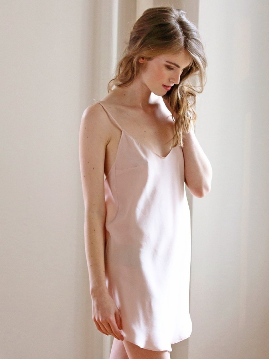 The Roxanne Slip - sexy in baby pink or ivory.