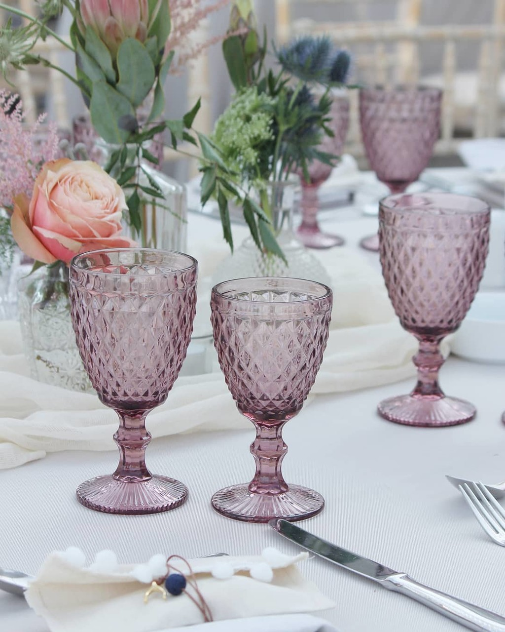 ▪throwback to this romantic bohemian wedding with vintage glasses and custom made boho wedding favor▪