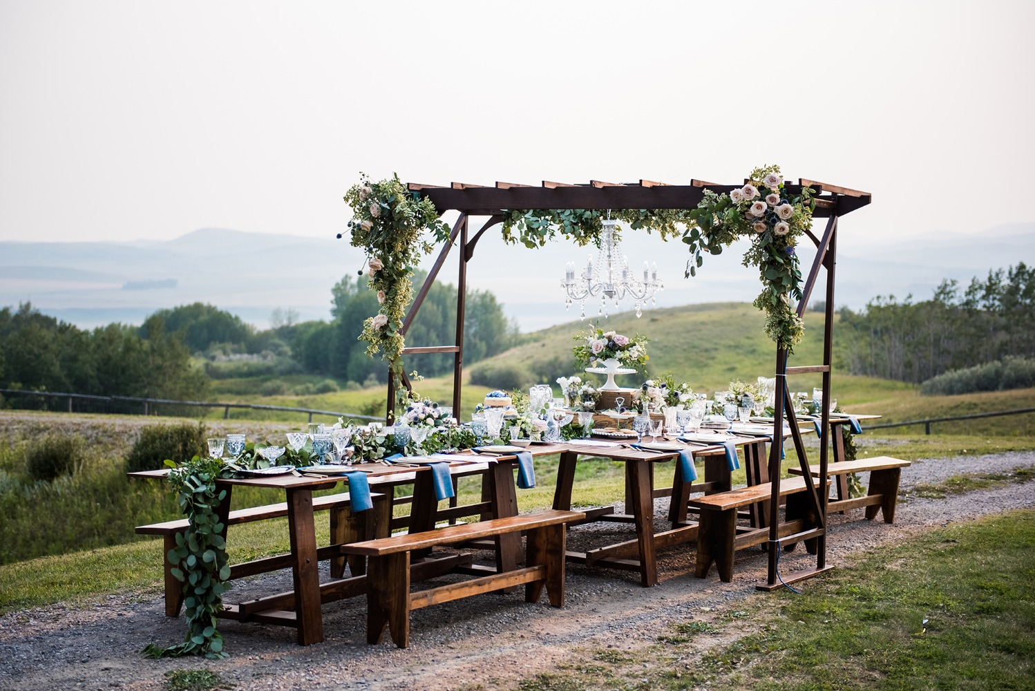 Rustic vintage table for a wedding