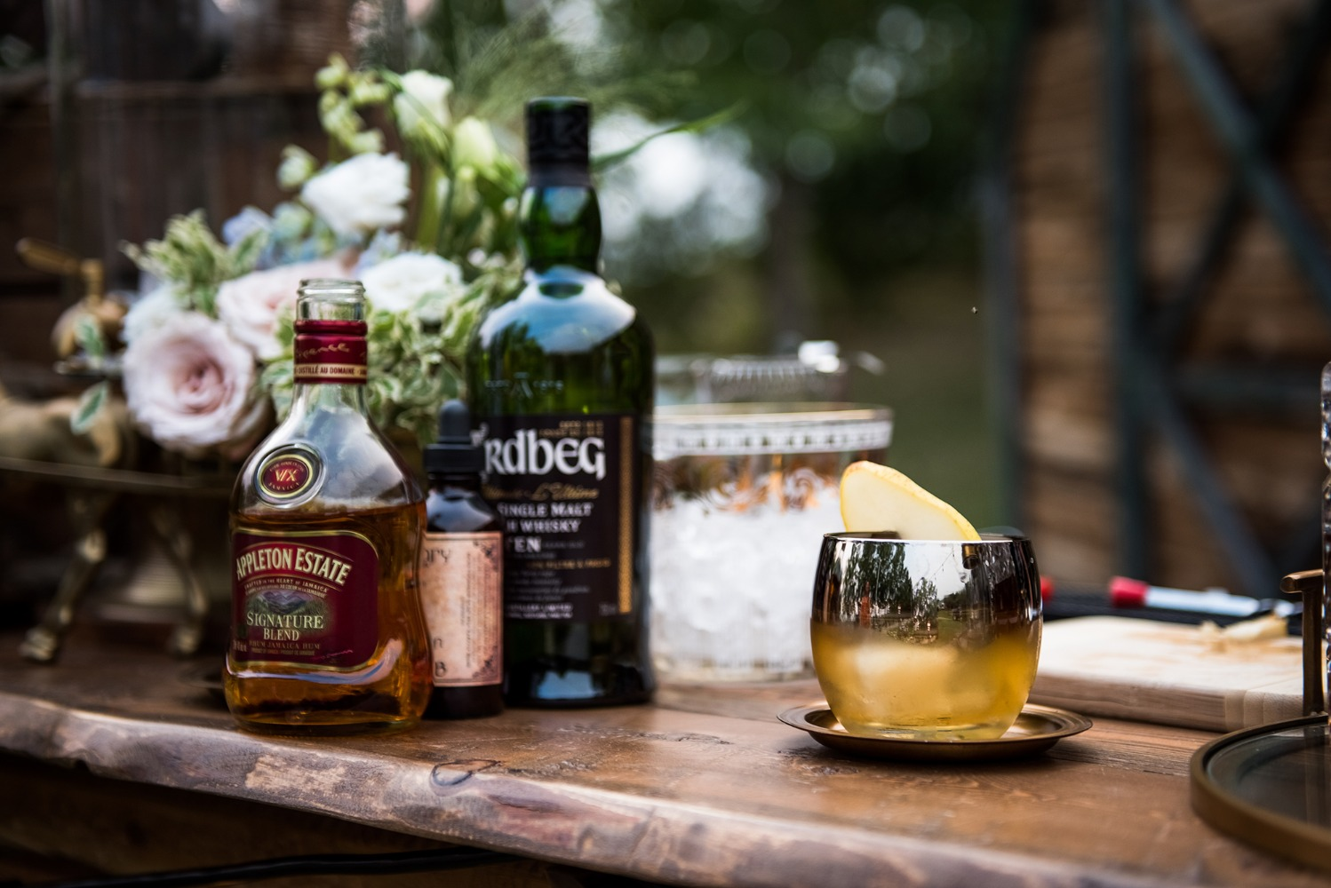 rustic wedding cocktails
