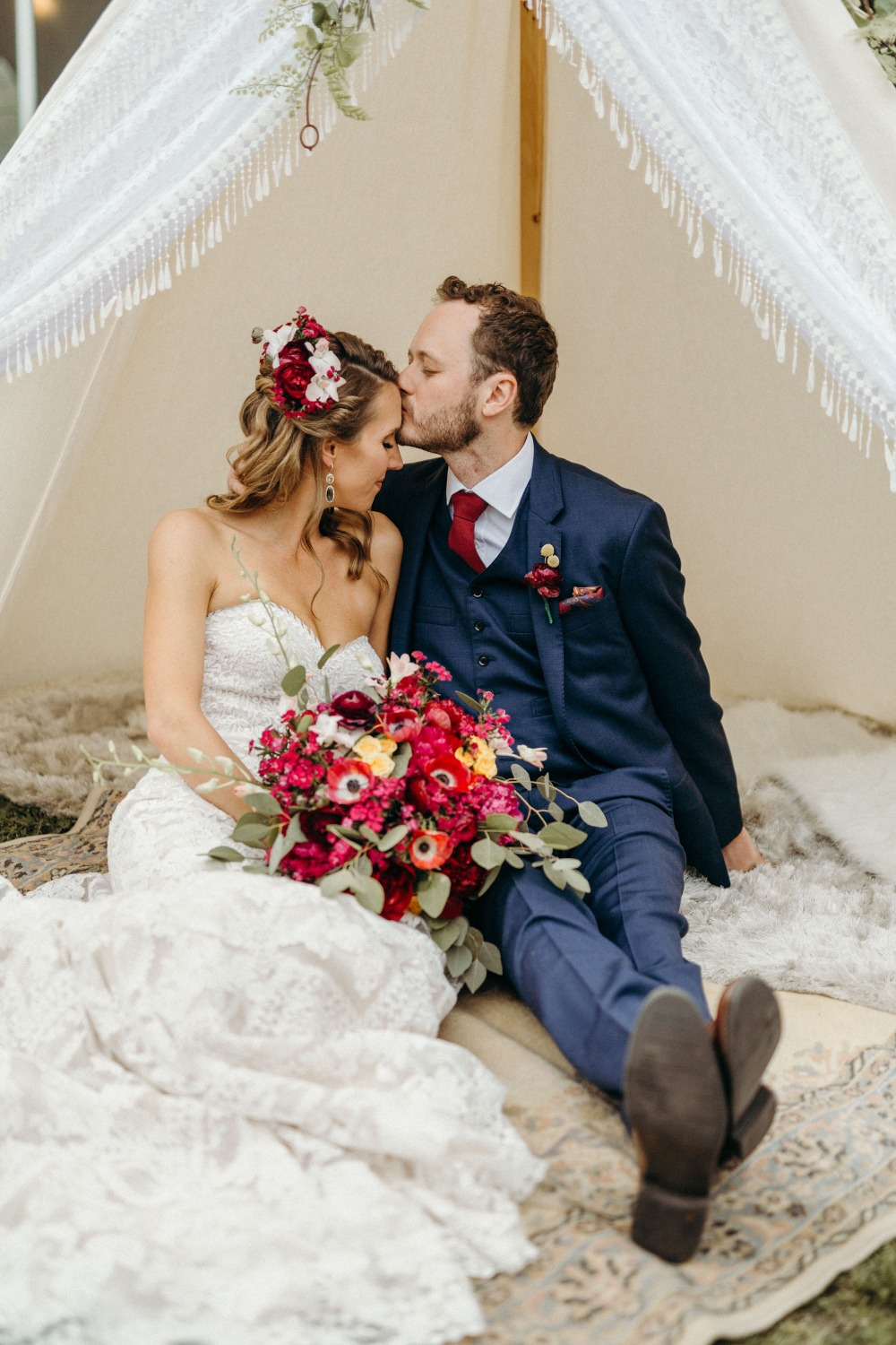 Romantic boho wedding
