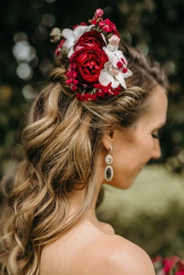 Travel-Inspired Boho Wedding in the Woods