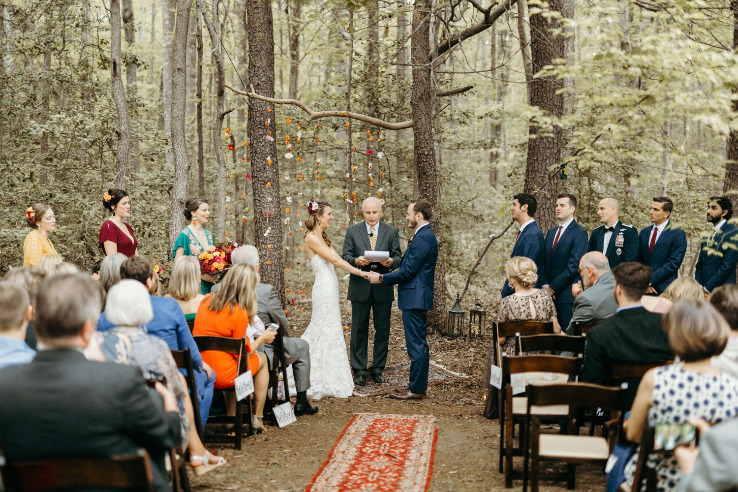 Boho forest ceremony