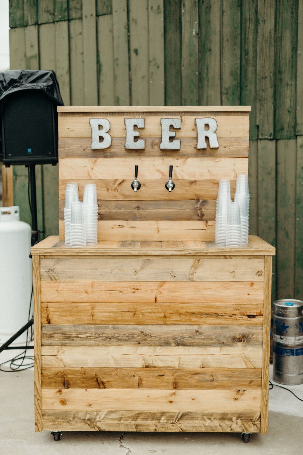 Beer station for a wedding