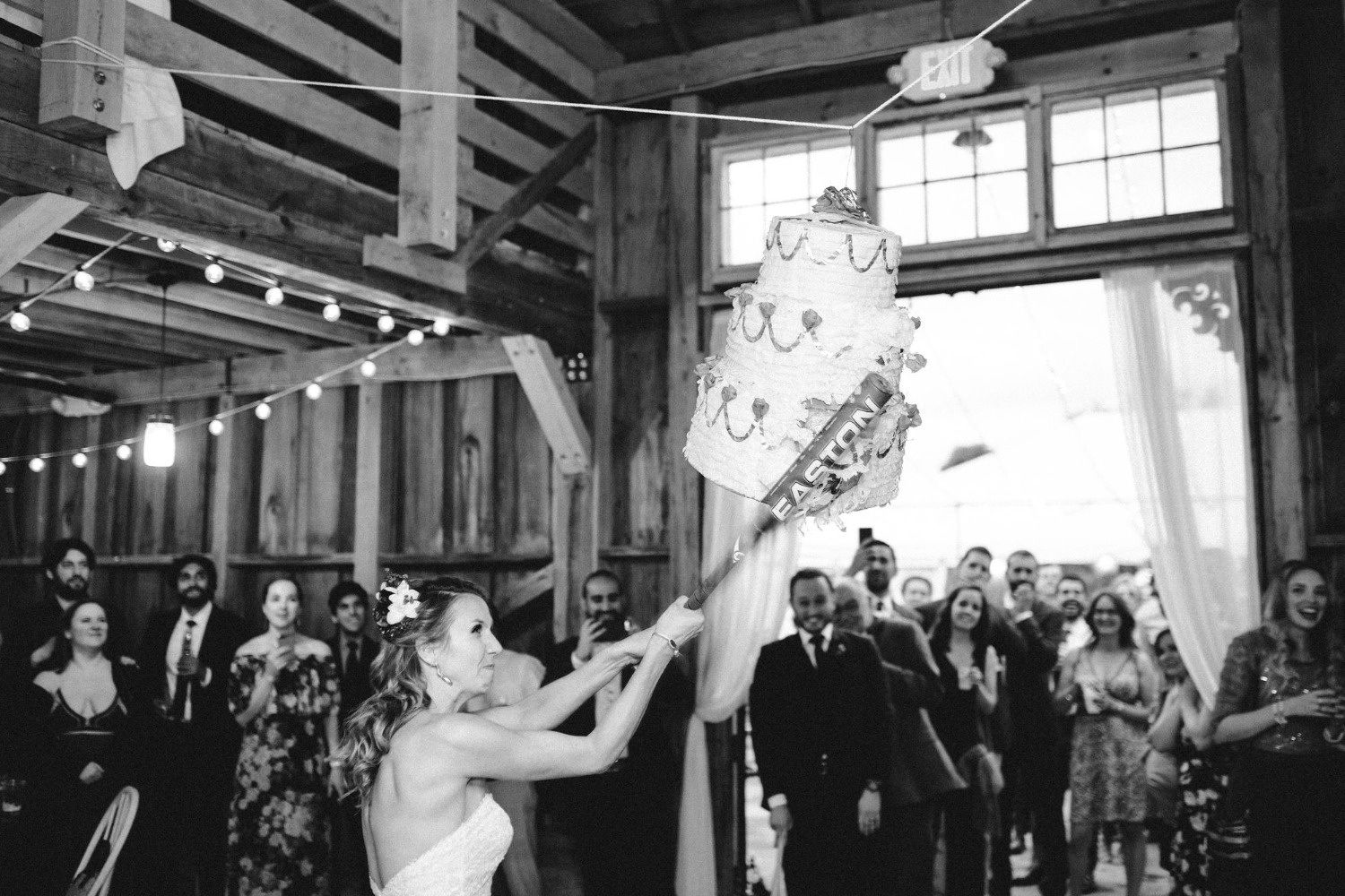 Hit the wedding cake pinata