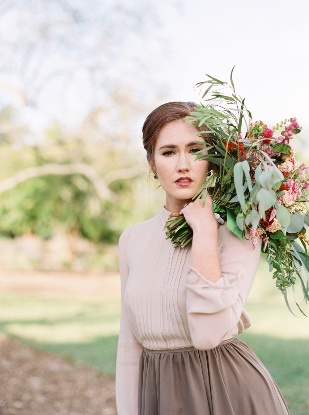 Dreamy fall bridal look