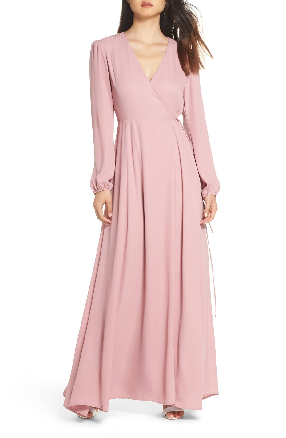 wayf-long-sleeve-wrap-dress-desert-rose