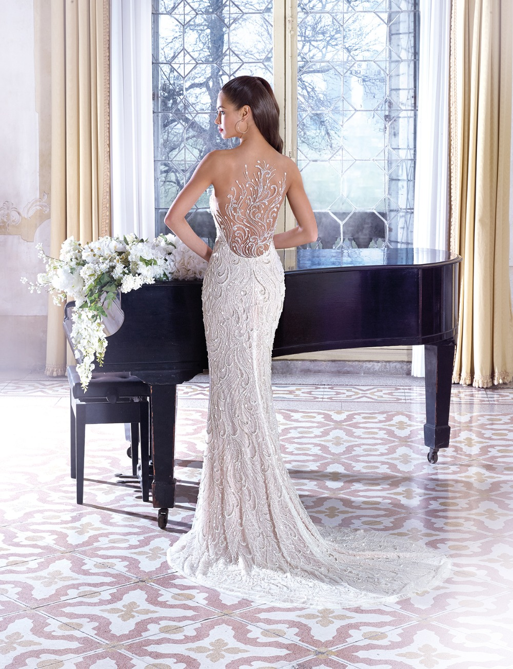 winter wonderland gown by Demetrios Platinum 19