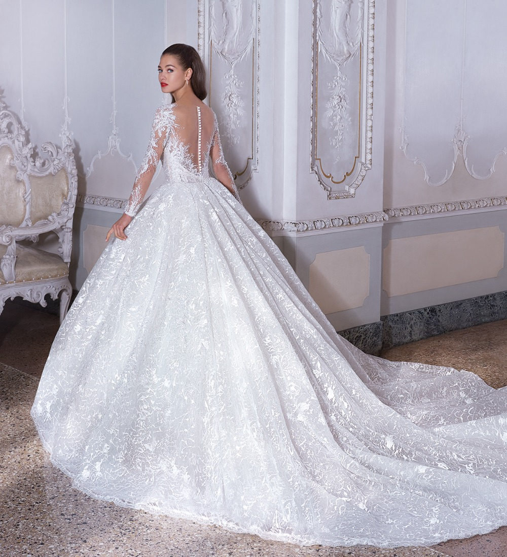 fairytale princess style gown by Demetrios Platinum 19