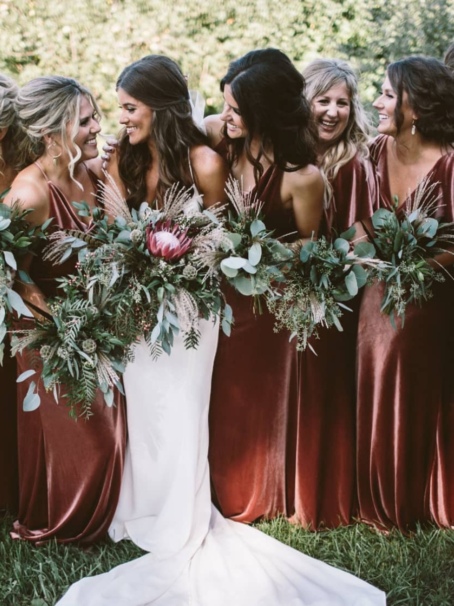 3dea22a371b This Is Why You Say Yes to Velvet Bridesmaid Dresses