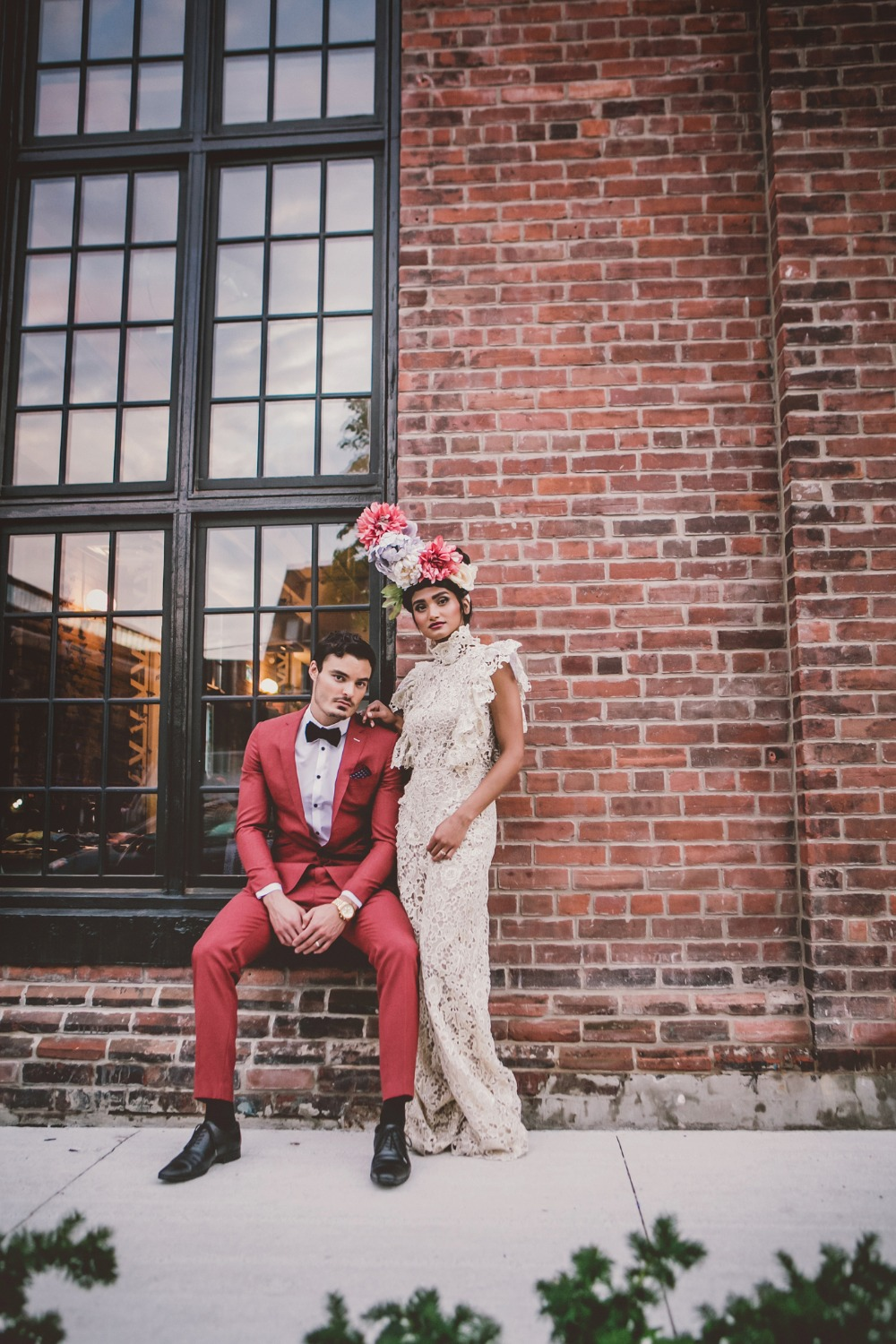 modern bride and groom style