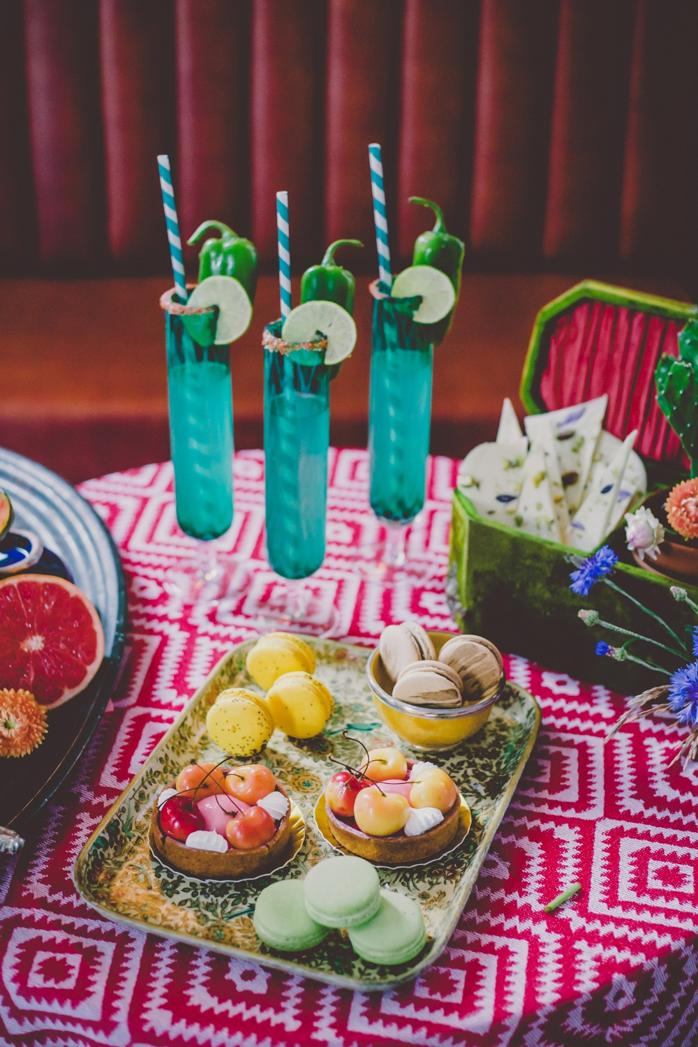 Colorful wedding cocktails