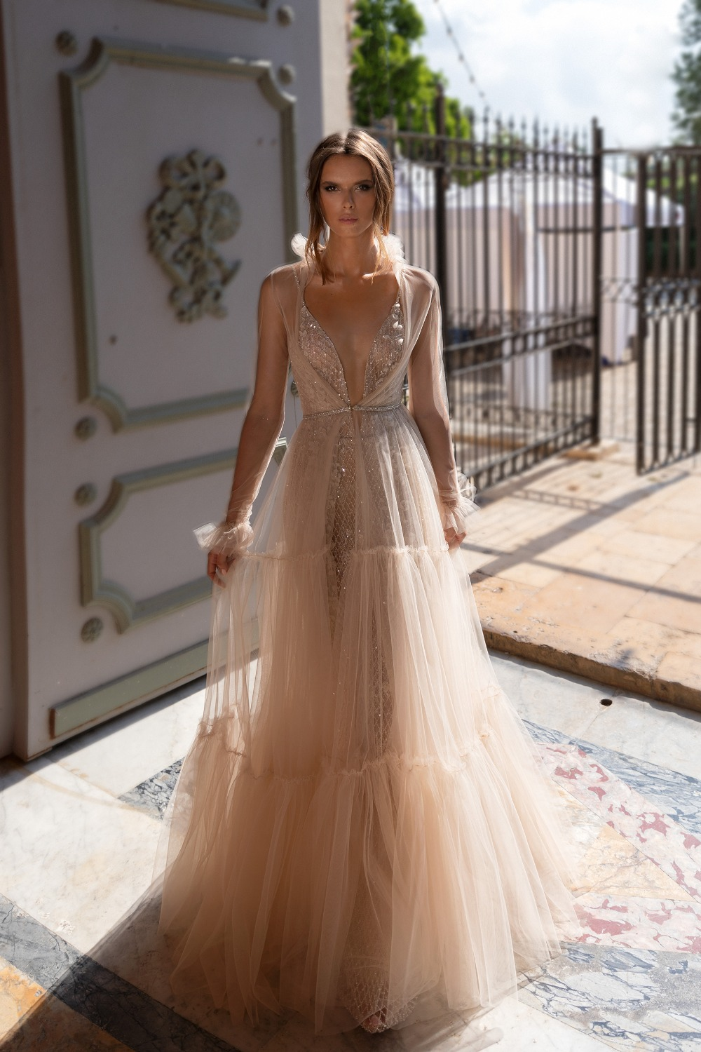 Summer White beach wedding dresses pictures