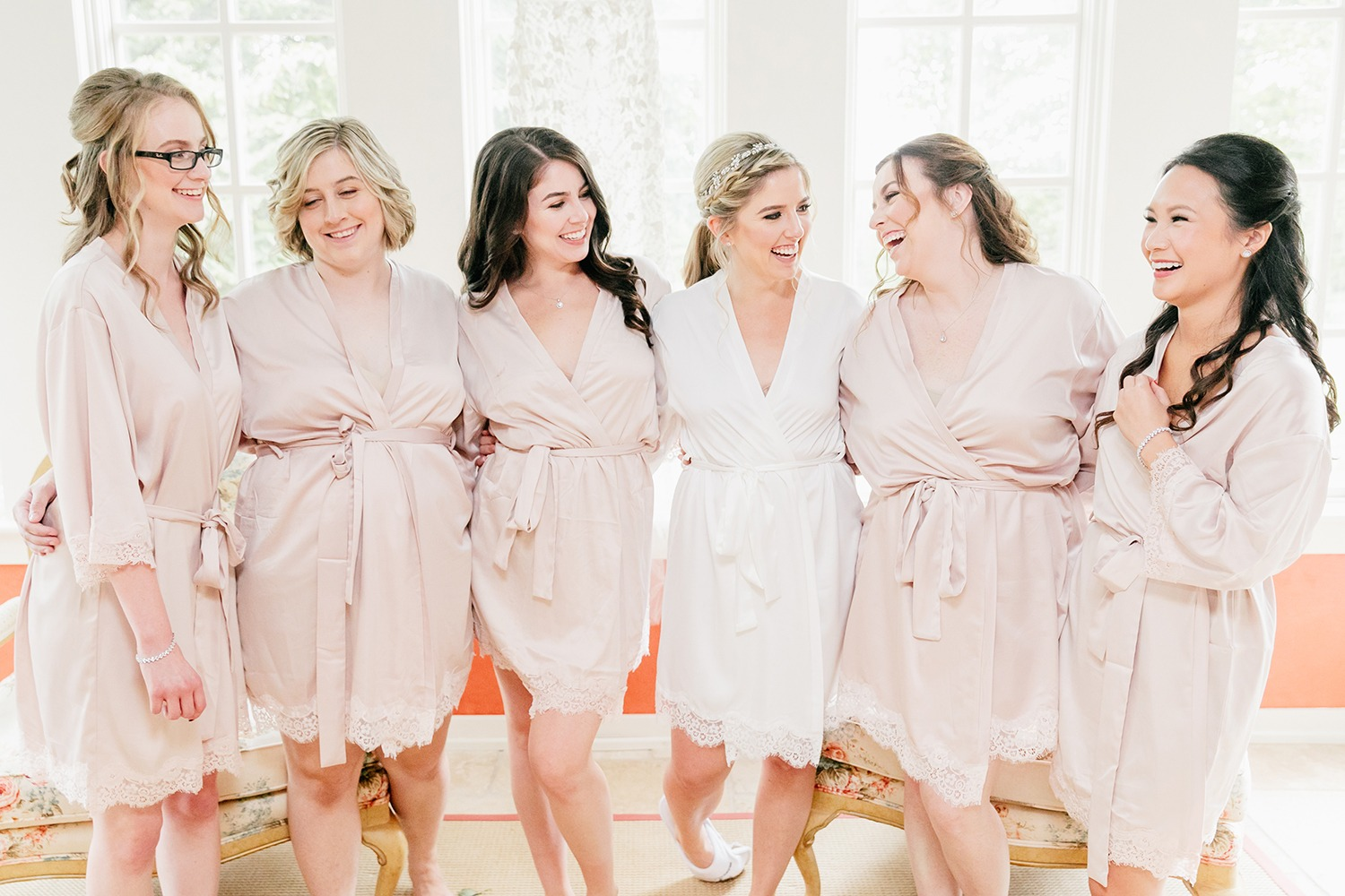Bridesmaid getting ready robes