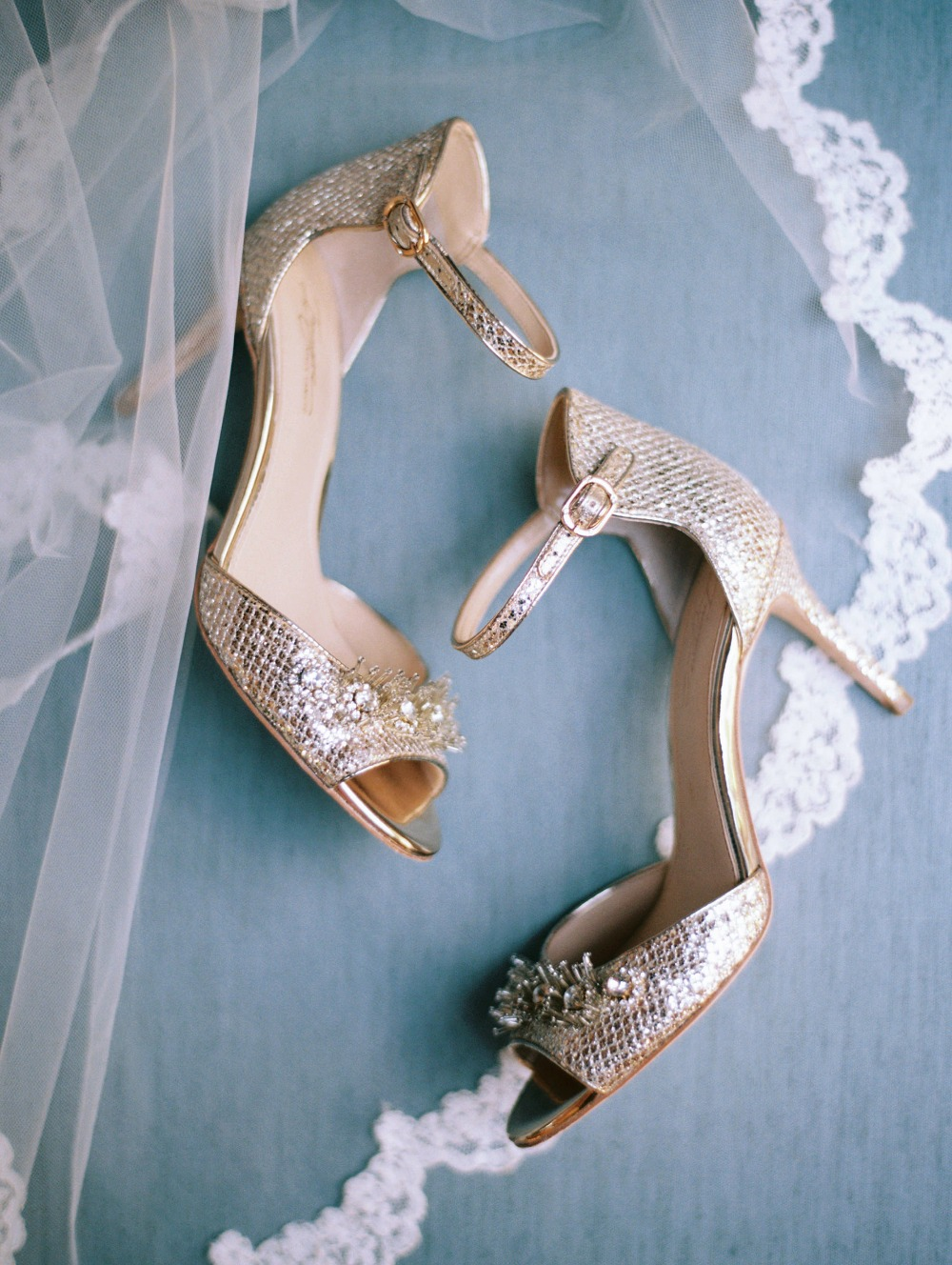 Shiny wedding heels