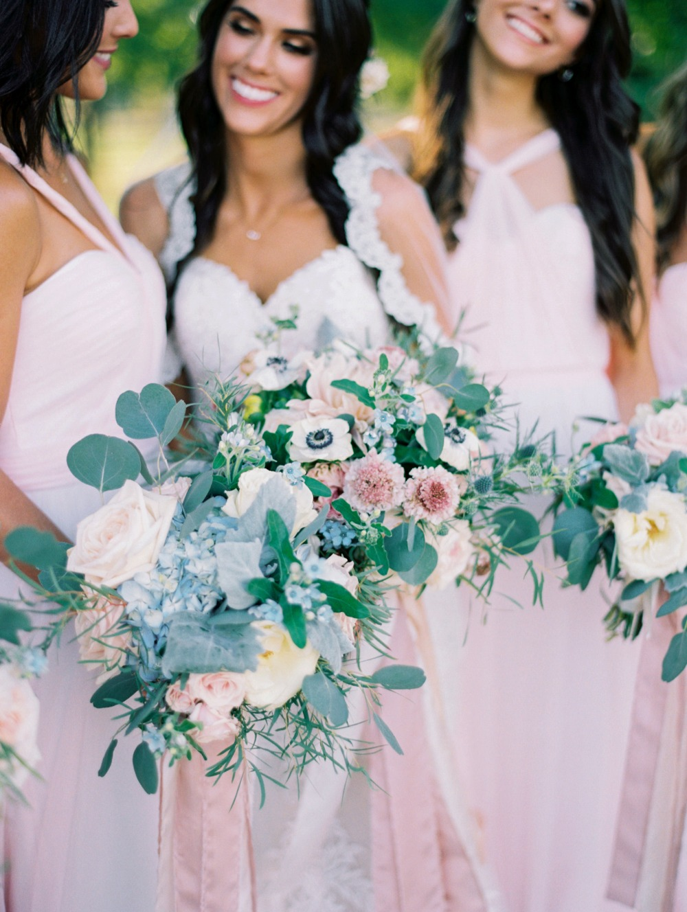Wedding bouquets for the bride and bridesmaids