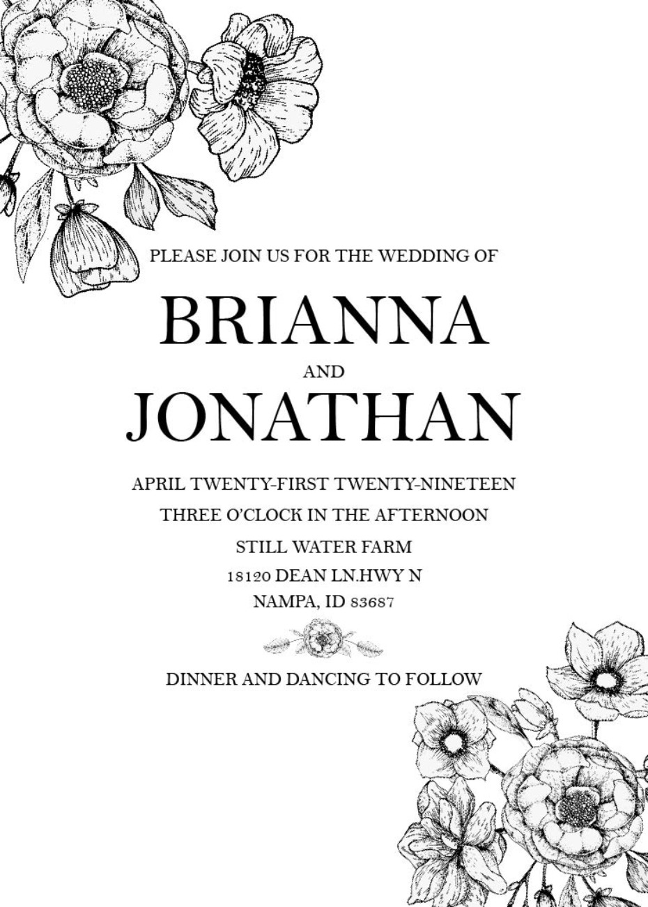 free printable wedding invitation suite