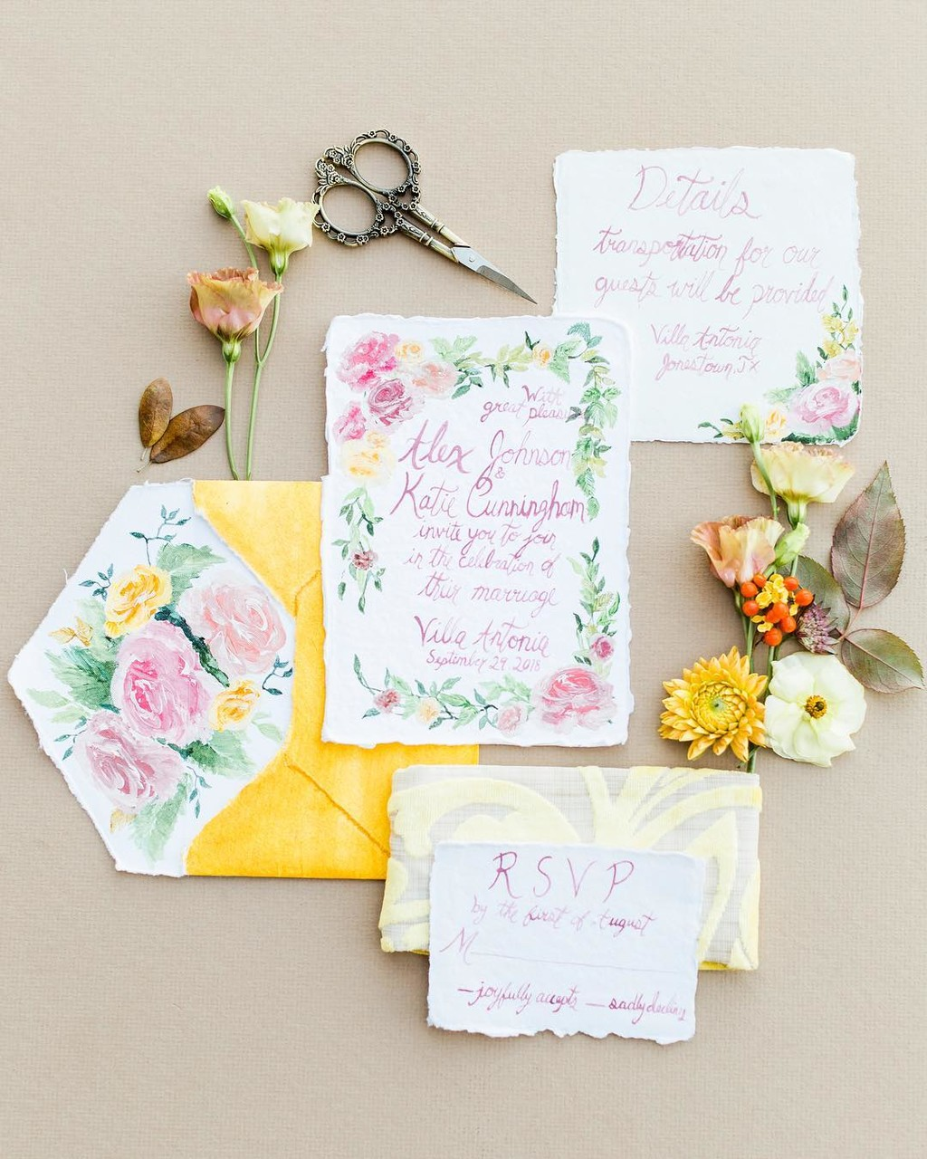 If you want a beautifully styled invitation suite, but can't afford sending it to all of your guests, ask a calligrapher or someone