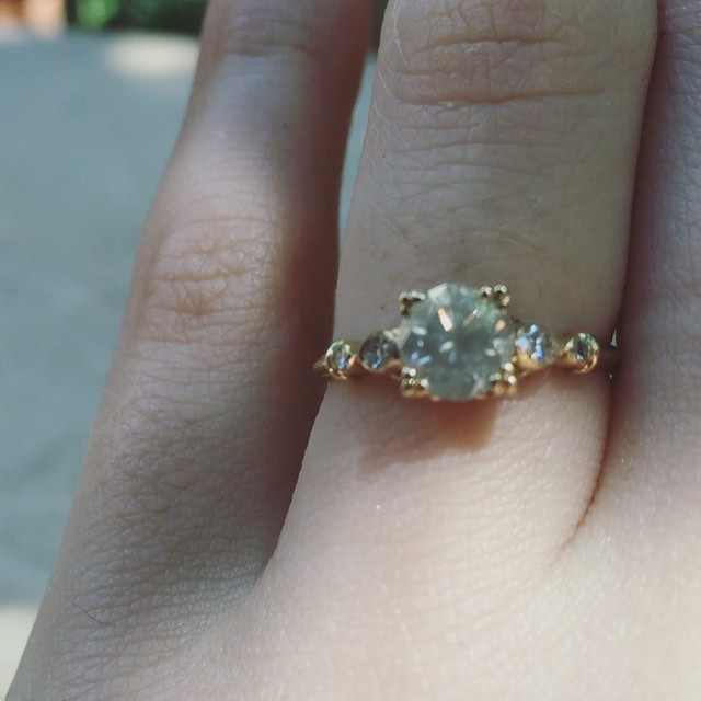Watch as the grey diamond goes from translucent to opaque in the sun on my patio. I could do this all day! Oh wait... I kind of do