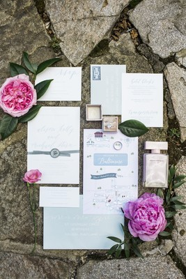 A Simple And Chic Grey and Pink Garden Wedding