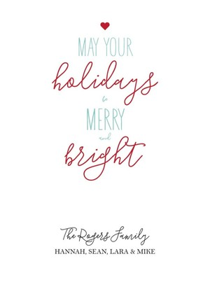 Free Printable Merry & Bright Holiday Card