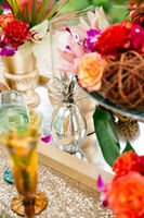 Tropical Pink and Gold Wedding Ideas