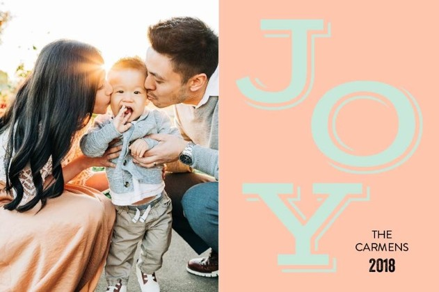 Free Printable Joy Holiday Card