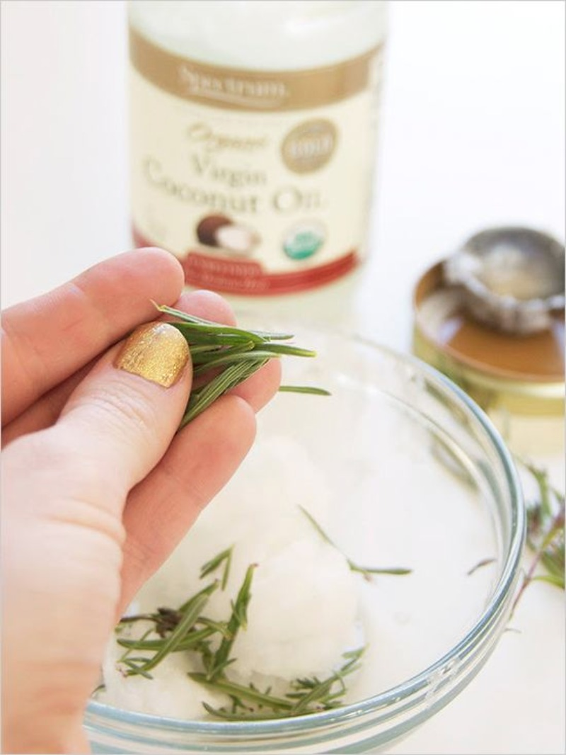 DIY Lavender Infused Coconut Oil Treatment