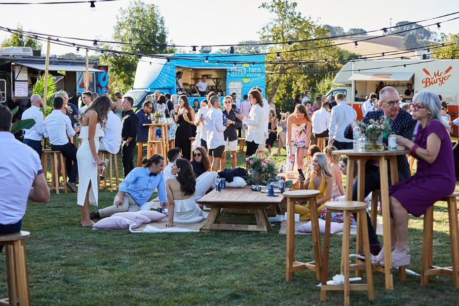 Have food trucks at your wedding.