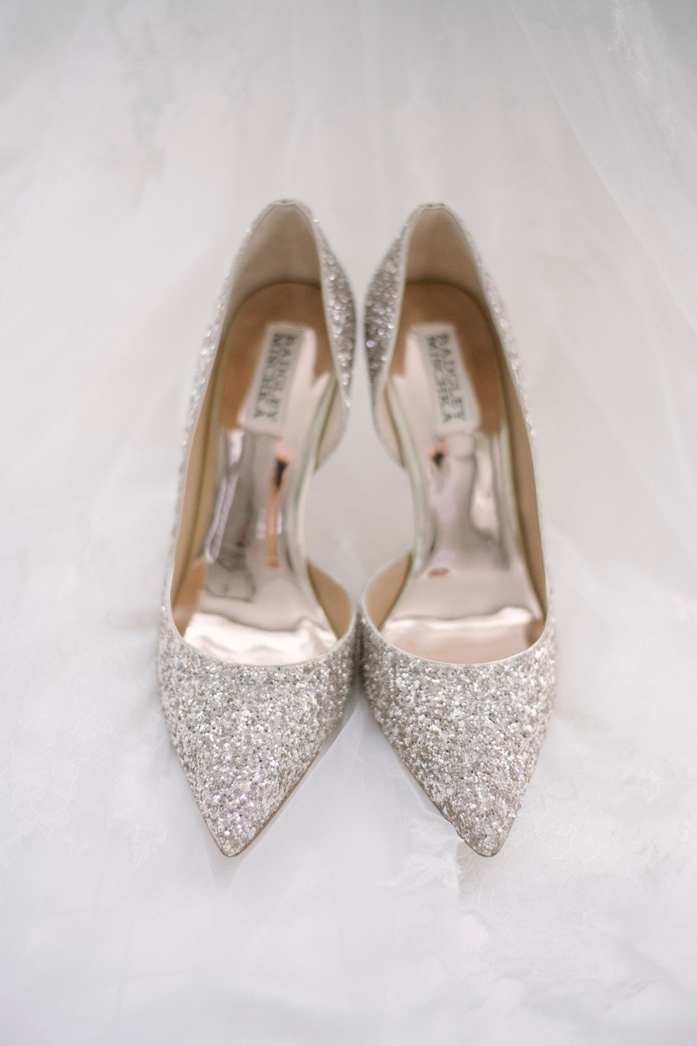 Sparkly wedding heels